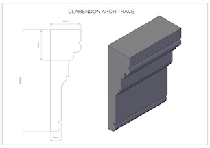 Clarendon-Architrave small