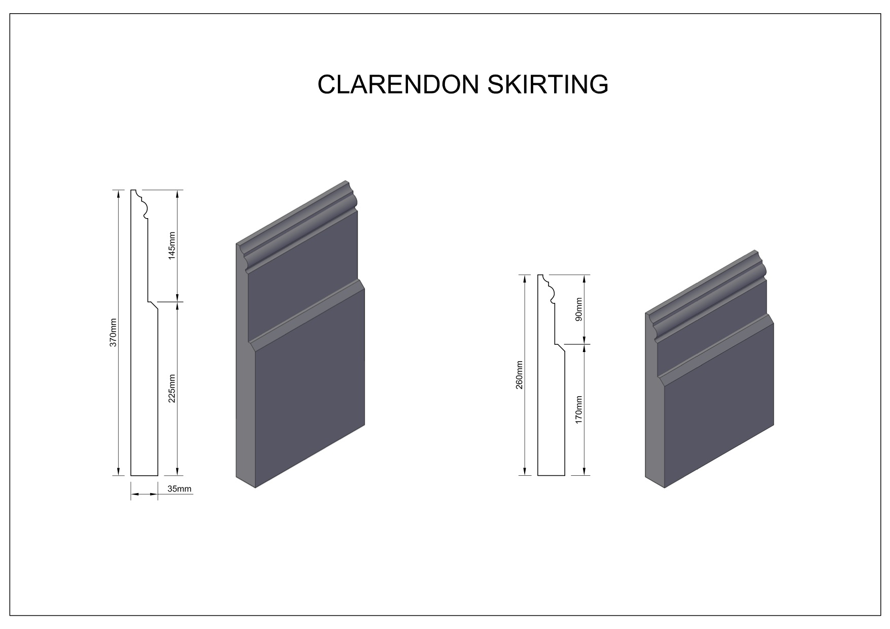 Clarendon-skirting large