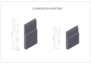 Clarendon-skirting small