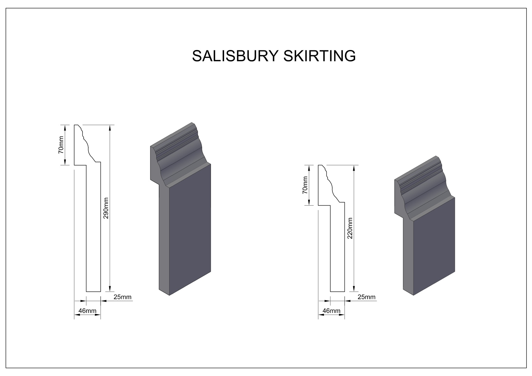 Salisbury-Skirting large