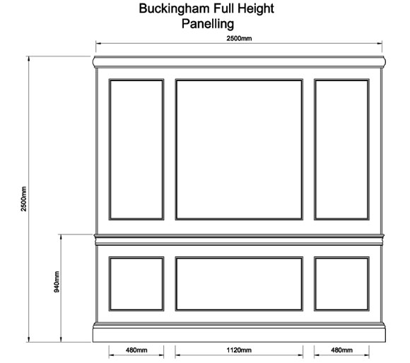 Buckingham Full Height Panelling The English Joinery Company