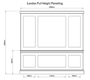 London Full Height Panelling small