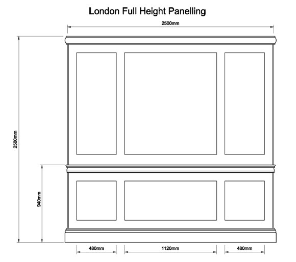 London Full Height Panelling