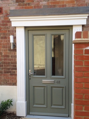 Fitted joinery front door