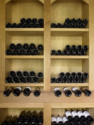 Fitted joinery wine storage image 3